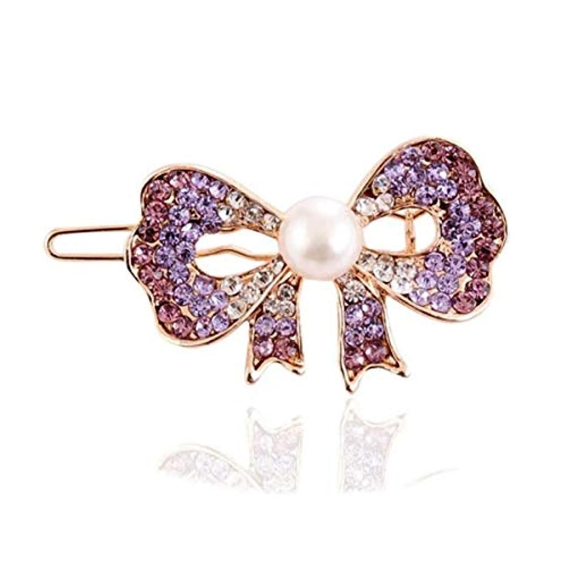 有害なプロットフォージヘアクリップ、ヘアピン、ヘアグリップ、ヘアグリップ、ヘアアクセサリーメスクリップヘアピン前髪ヘアピンヘアピンクリップカエルクリップクリップ帽子紫 (Color : Purple, Size : 5.2*3.0cm)