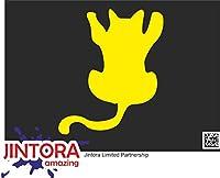 JINTORA ステッカー/カーステッカー - Terrier dog breed - テリア犬の品種 - 118x99 mm - JDM/Die cut - 車/ウィンドウ/ラップトップ/ウィンドウ - 黄色