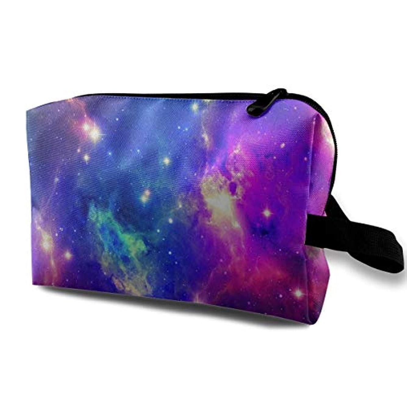 証書孤独がっかりしたSpace Nebula Galaxy 収納ポーチ 化粧ポーチ 大容量 軽量 耐久性 ハンドル付持ち運び便利。入れ 自宅?出張?旅行?アウトドア撮影などに対応。メンズ レディース トラベルグッズ
