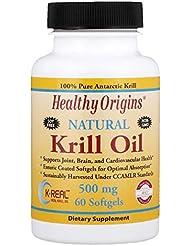 Healthy Origins オキアミ油 天然バニラ味 500 mg ソフトジェル 60 錠 【アメリカ直送】