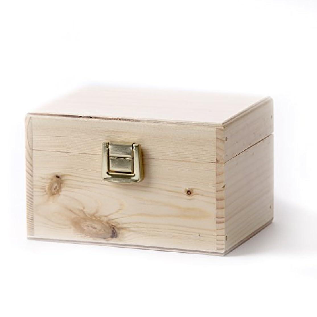 治療ファイアル基準Wooden Aromatherapy Gift Box - (Empty But Can Hold 6 x 10ml Glass Bottles)