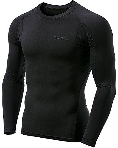 MUD11-KLB_L (テスラ)TESLA オールシーズン 長袖 ラウンドネック スポーツシャツ [UVカット・吸汗速乾] コンプレッションウェア パワーストレッチ アンダーウェア