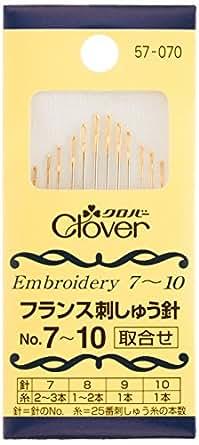 Clover フランス刺しゅう針 取合せ No.7~10 12本入り 57-070