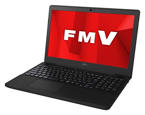 富士通 ノートパソコン FMV LIFEBOOK AHシリーズ WA1/D1 (Windows 10 Home/15.6型ワイド液晶/Celeron/4GBメモリ/約500GB HDD/スーパーマルチドライブ/Office Home and Business 2019/シャイニーブラック)AZ_WA1D1_Z003/富士通WEB MART専用モデル