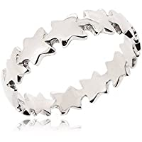 SOVATS Star Thumb Ring for Women 925 Sterling Silver Rhodium Plated - Simple, Stylish &Trendy Nickel Free Ring