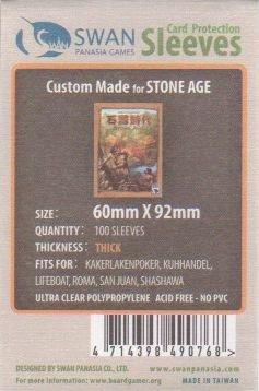 スワンパナシア カードゲームスリーブ 60x92 厚手 100枚 (ストーンエイジ/ドミニオンサイズ)