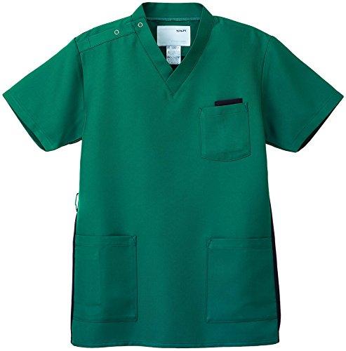 ナガイレーベン スクラブ(男女兼用) 医療白衣 半袖 ピーコックグリーン SS RT-5062