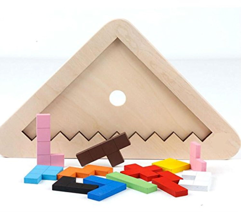 HuaQingPiJu-JP 高品質の木製カラフルなパズルアーリーラーニング番号の形の色の動物のおもちゃキッズのための素晴らしいギフト(パズル)