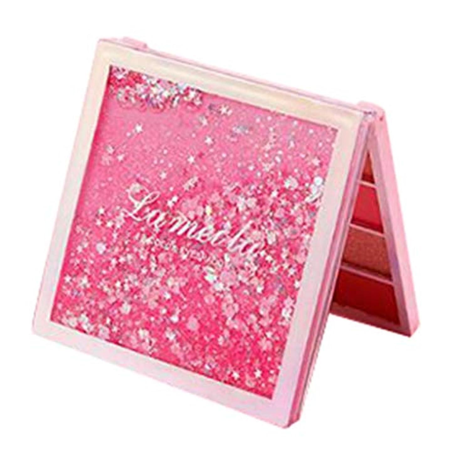 効果的にメーカーリッチ12色 アイシャドウ アイシャドウパレット メイクアップパレット マット キラキラ 色付けしやすい 長持ち 防水 - ピンク