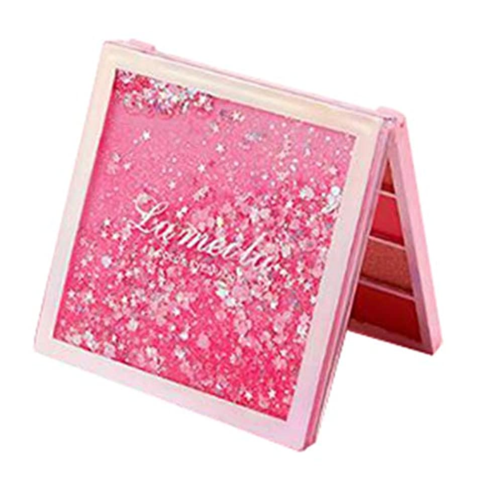 期待一目欺12色 アイシャドウ アイシャドウパレット メイクアップパレット マット キラキラ 色付けしやすい 長持ち 防水 - ピンク