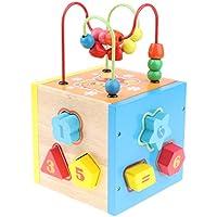 B Baosity 木製 ビーズ迷路 ビルディングブロック おもちゃ 子供 モンテッソーリおもちゃ