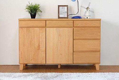 ISSEIKI サイドボード 収納家具 ナチュラル 幅120 飽きの来ないデザイン 木製家具 BAS...