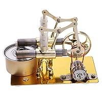 熱蒸気 スターリングエンジンモデル  物理モーター モデル発電機 物理学 教育玩具 全2選択 - #1 (1#)