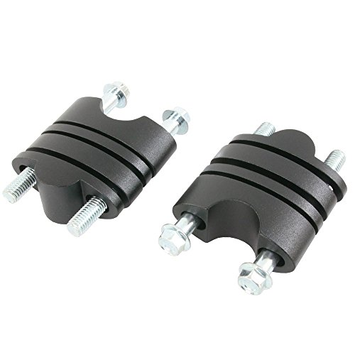 バーライズアダプターキット STD径 22.2mm ハンドル用 24~39mm ハンドルアップスペーサー ブラック 黒
