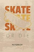 NOTIZBUCH A5 Dotted: Skateboarder Notizheft GEPUNKTET 120 Seiten - Rollbrettfahrer Notizblock Skater Spruch Skizzenbuch - Rollbrett Geschenk fuer Skateboarder Skateboardfahrer Skater