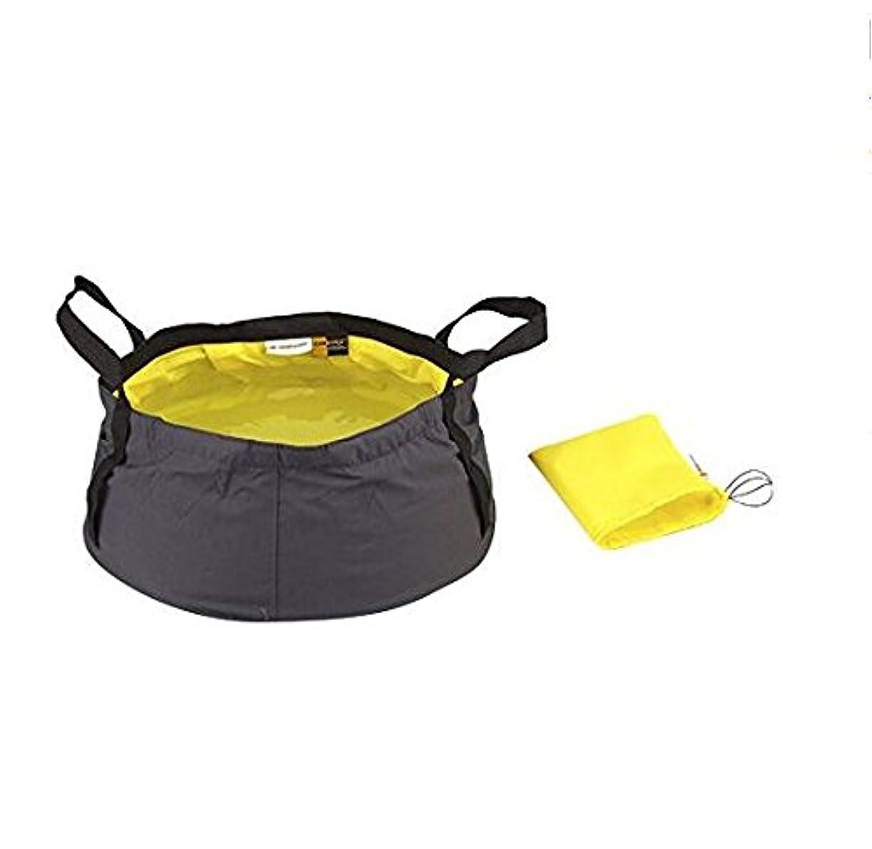 装置女優余暇Xiton Travel Outdoor Camping/Hiking Folding Wash Basin Bucket w/Storage Pouch 8.5L (Yellow)