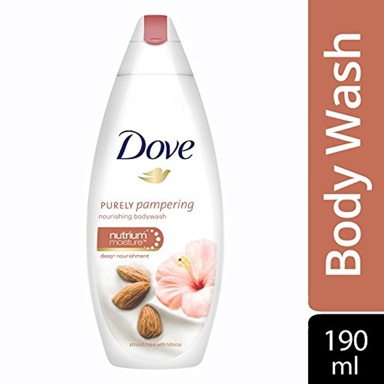 藤色ベッド課税Dove Purely Pampering Almond Cream and Hibiscus Body Wash, 190ml