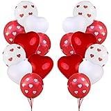 Tumao 40点 バルーン 結婚式 ハートバルーン バレンタイン 風船 パーティー ホワイトデー 応援 記念日 お祝い 告白 サプライズ 誕生日 飾り付け セット 装飾 安い