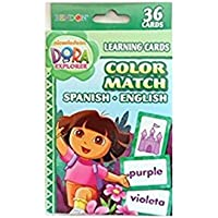 Dora Learning Cards Color Match Spanish English [並行輸入品]