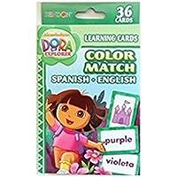 Dora Learning Cards Color Match Spanish English [並行輸入品]