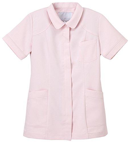 ナガイレーベン 女子上衣 医療白衣 半袖 ピンク S CB-1542