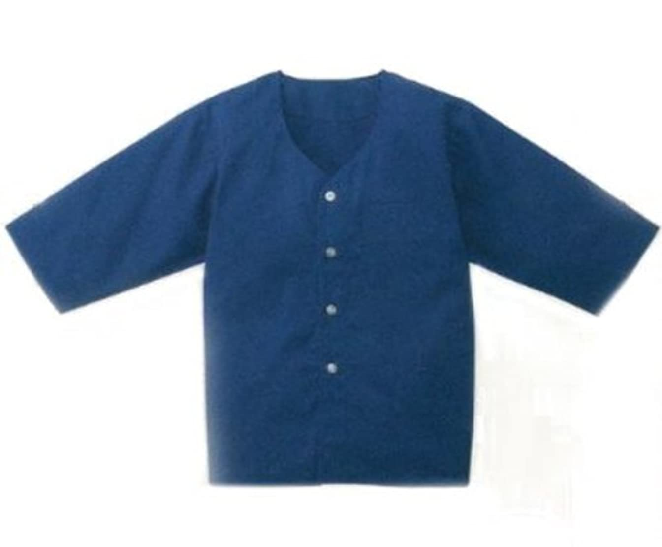 学校教育一時解雇する膨張するダボシャツ七分袖 【花紺】【064-7200-03】