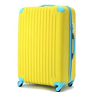 (トラベルデパート) 超軽量スーツケース TSAロック付 (Sサイズ(34L), イエロー)