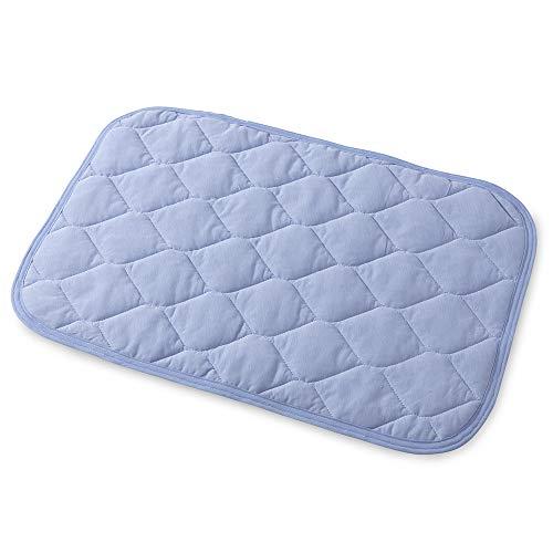 mofua cool モフアクール 涼感 枕パッド アイスブルー 43×63cm 綿100% ドライコットン ムレずにさらっと快適 抗菌 防臭 洗える 31280044