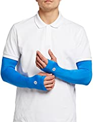 Solbari UPF 50+ Mens Sun Protection Arm Sleeves, Coolasun Collection - With Thumbholes - UV Protection, Sun Pr