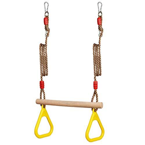 RoomClip商品情報 - Pellor 子供遊び 吊り輪 体操吊り輪 ロープ長さ2m 調節可能 160kgまで荷重