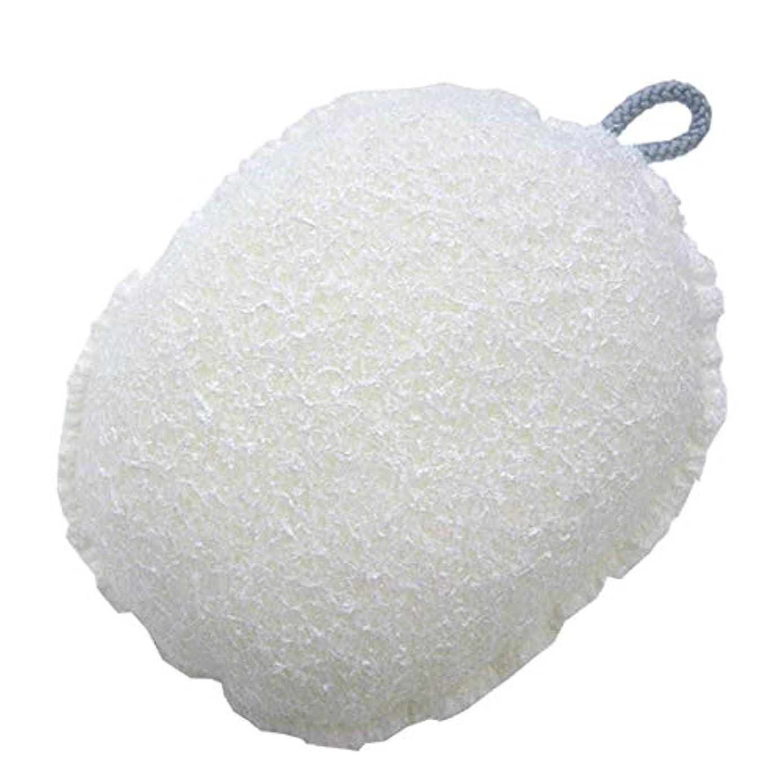 ひねり薄汚い区別ワイズ ヘチマ風ボディスポンジ ホワイト BZ-045