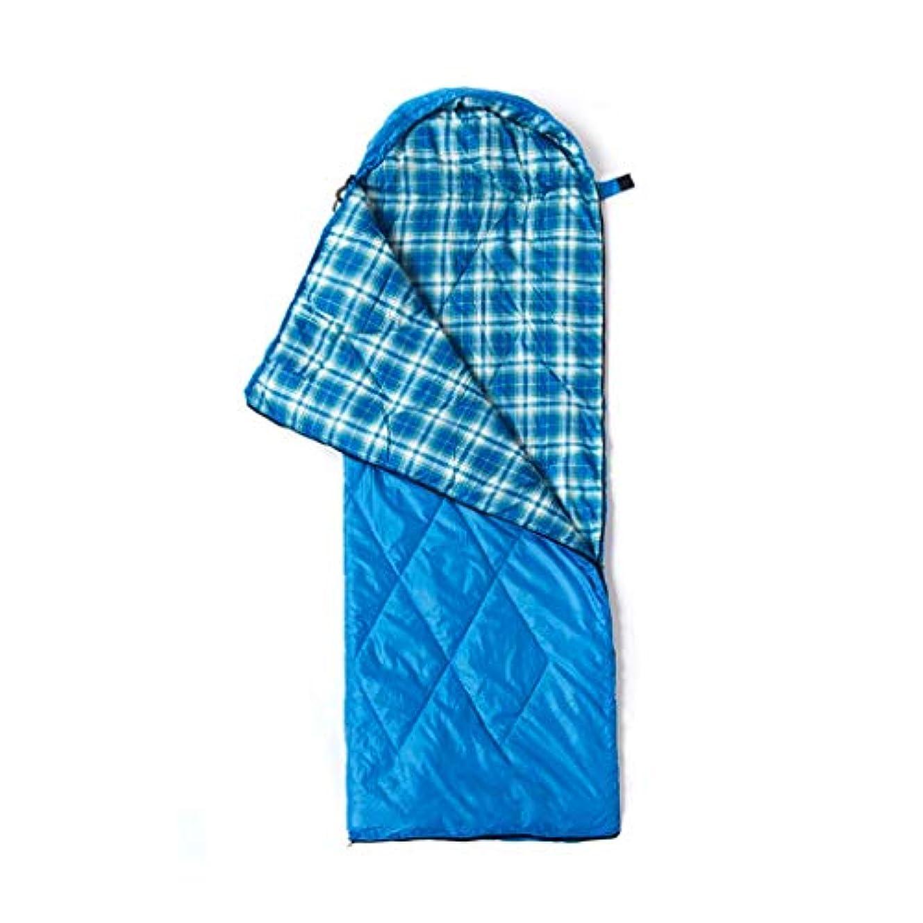 早い深遠ジャグリングLCSHAN 寝袋ポリエステルキャンプ旅行モイスチャープルーフ厚いウォームダウンコットン (容量 : A, 色 : 青)