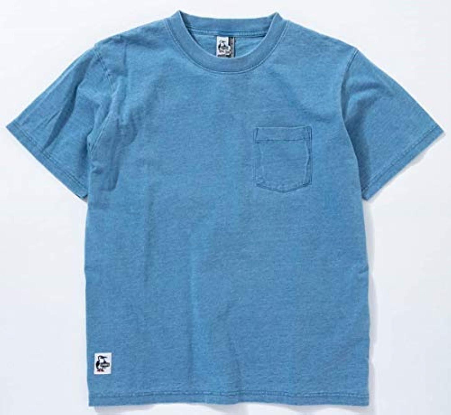 一掃するすごい下線[チャムス] Utah Pocket T-Shirt Indigo ユタポケット Tシャツ インディゴ CH01-1486 トップス 半袖 メンズ レディース
