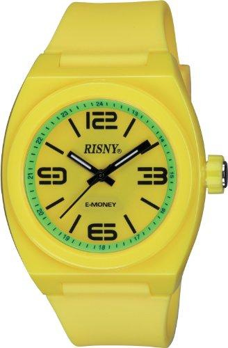 リスニー RISNY 腕時計 電子マネーEdy エディ 搭載 イエロー×グリーン RS-001M-07