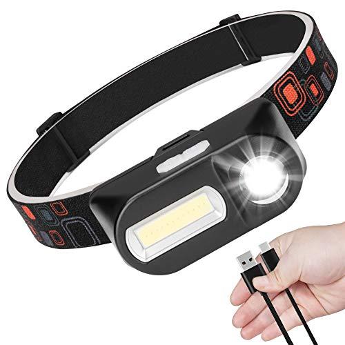 【充電式ヘッドライト】2019最新版 ヘッドランプ 小型軽量 LEDヘッドライト 釣り 7つ点灯モードledライト キャンプ/ランニング/防災用