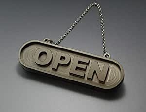 OPEN CLOSED オープン クローズ 看板 プレート サインプレート 開店 閉店 メタル