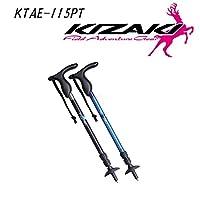 キザキ(kizaki) ウォーキングポール ペチカ メンズ T型 ブルー 115cm KTAE-115PT