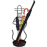 QING MEI 傘スタンドホームユニバーサル傘収納ラック鍛造傘ブラック26x72CM A++