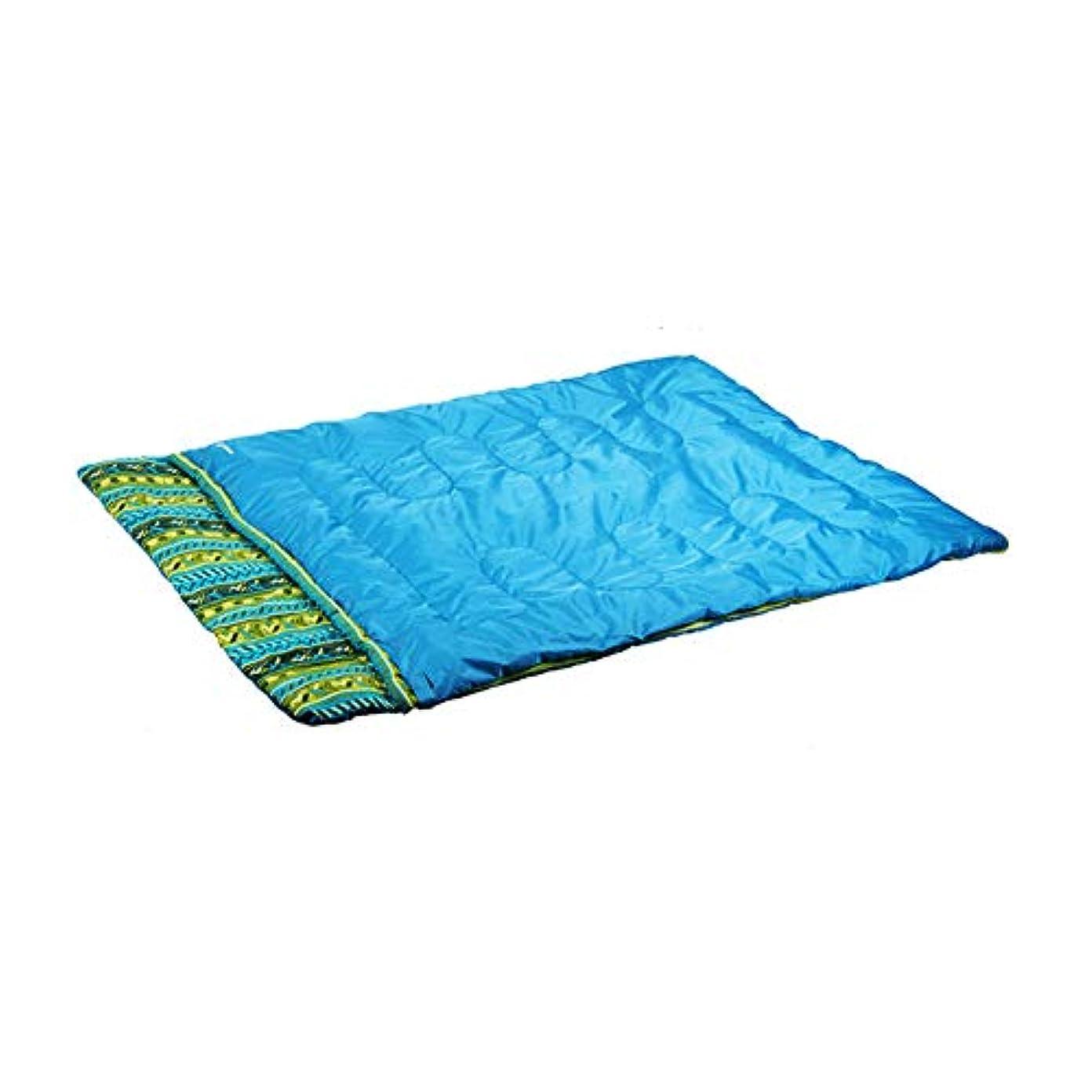 見分ける埋めるタックルDurable,breathable,comfortableダブル寝袋、厚い暖かいキャンプ睡眠バッグ大人または十代の若者たち寒い天気2人睡眠サックポータブル封筒防水スリーピングパッド,blue,210*150cm