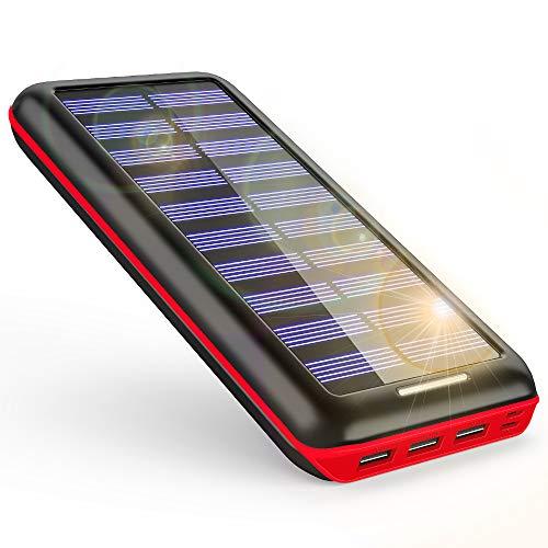 モバイルバッテリー ソーラーチャージャー 24000mAh ...