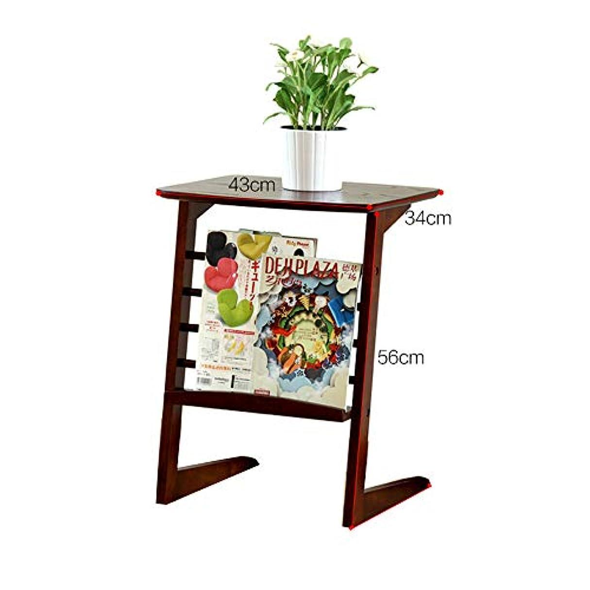 HUO 純木のサイドテーブルの移動式コーヒーテーブルの簡単なソファーのベッドサイドテーブル-43 * 34 * 56 cm