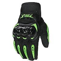 ACHICOO タッチスクリーンフルフィンガーレーシングバイク用手袋バイク用手袋 タッチスクリーングリーン M