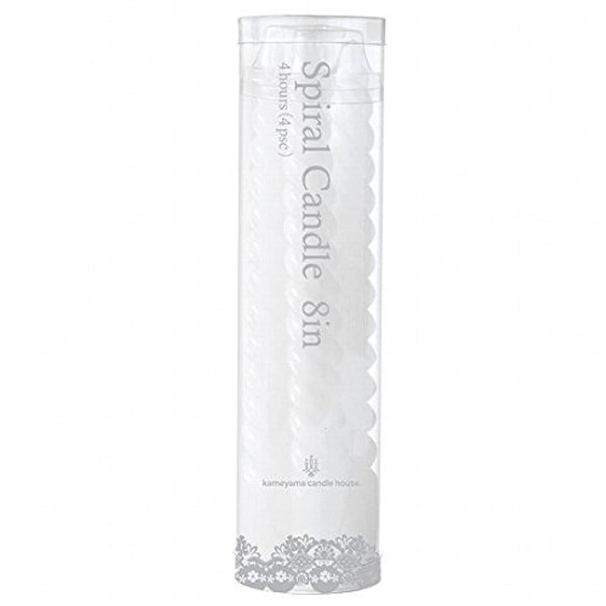 極めて重要な受粉する証言カメヤマキャンドル(kameyama candle) 8インチスパイラル4本入り 「 ホワイト 」