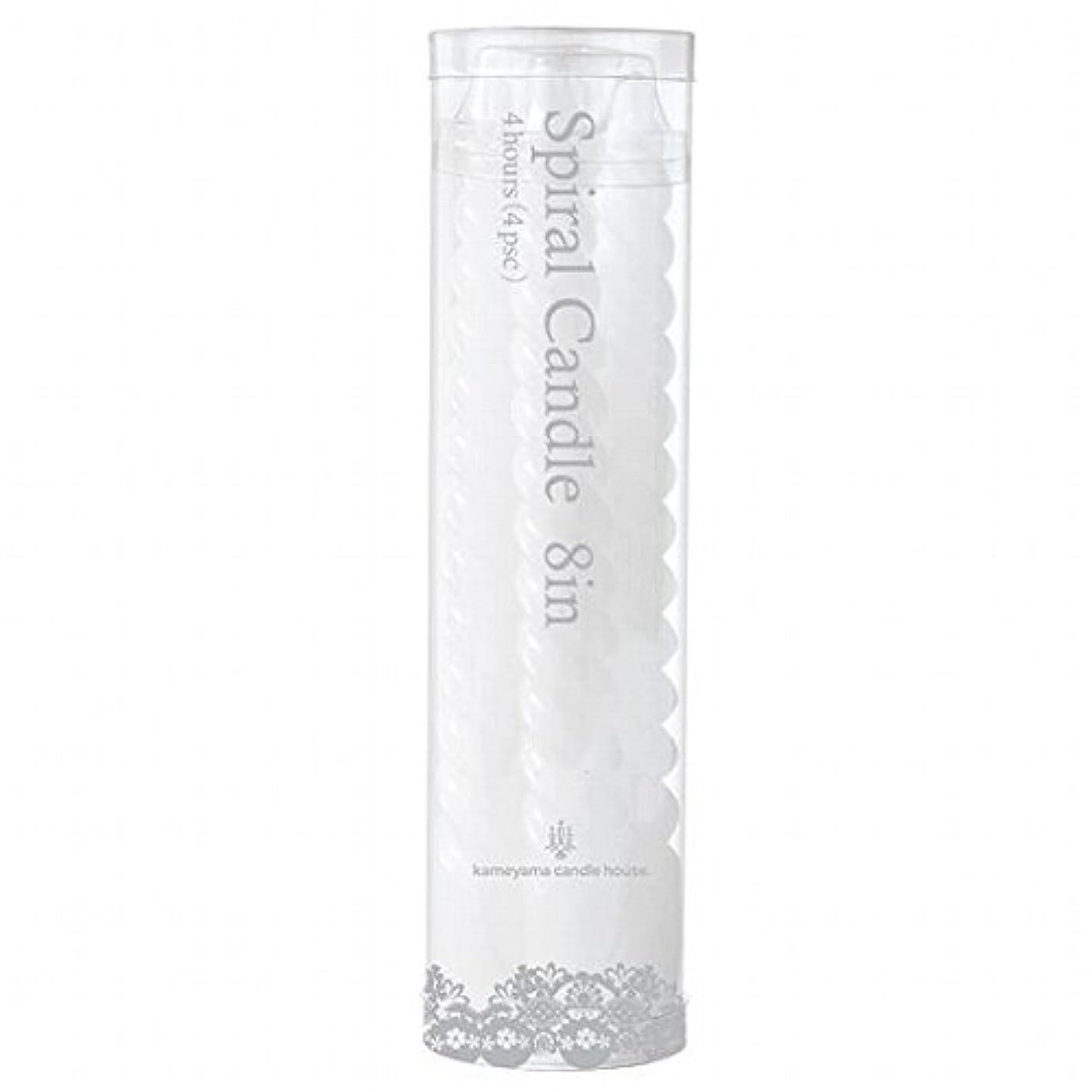 着るハムピッチャーカメヤマキャンドル(kameyama candle) 8インチスパイラル4本入り 「 ホワイト 」