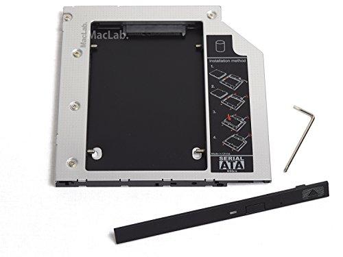 MacLab. 光学ドライブをHDDやSSDに置き換えるためのキット セカンドHDDアダプター (9.5mm厚のSlimlineSATAドライブを搭載したノートPC対応)【相性保証付き】