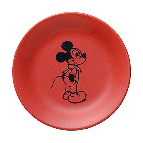 ディズニー 小皿 コミックアートコレクション D-MF02 ミッキー レッド