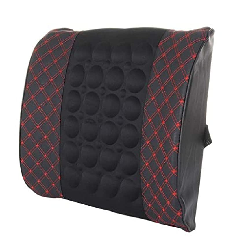 ステップカメ大砲枕、腰部背部支持パッド、妊娠中の腰椎枕、腰用シートクッション、姿勢ブレース、腰痛を和らげる、低反発腰椎背もたれ枕、オフィスカーチェア、車の室内装飾 (Color : Blackred)