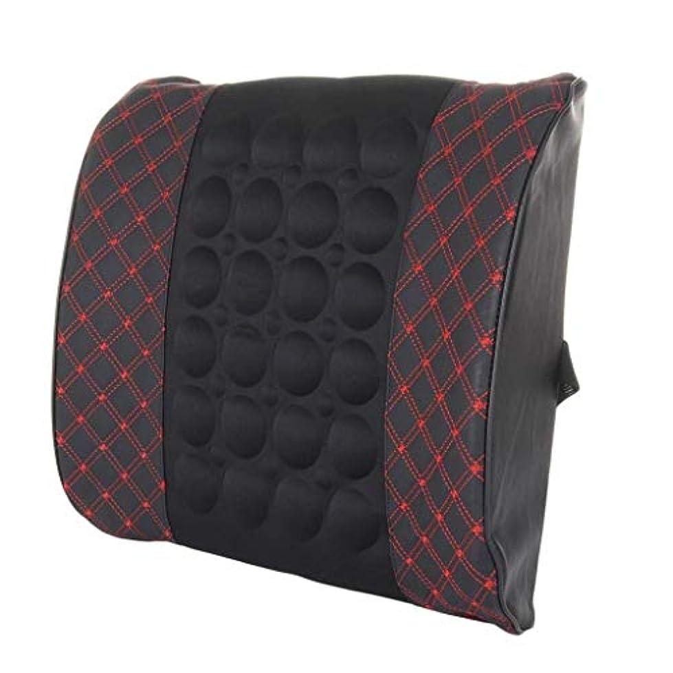 モニター処分したニンニク枕、腰部背部支持パッド、妊娠中の腰椎枕、腰用シートクッション、姿勢ブレース、腰痛を和らげる、低反発腰椎背もたれ枕、オフィスカーチェア、車の室内装飾 (Color : Blackred)