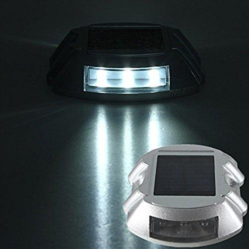 SOLMORE 階段ライト 歩道ライト 夜間照明 道路ライト 道路鋲 防水 ソーラー充電 スイッチなし 照明 装飾