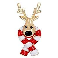 Fablcrew 可愛いクリスマス ブローチ トナカイ 胸飾り 動物 ブローチ 合金 レディース メンズ アクセサリー クリスマス プレゼント